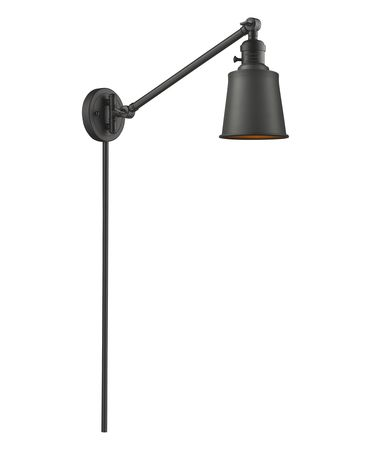 Shown in Oiled Rubbed Bronze finish and Oiled Rubbed Bronze Addison shade