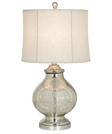 Shown in Silver Mercure finish and Bell - Beige - Stretched shade