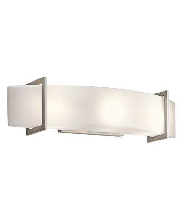 Shown in Brushed Nickel finish and Opal Etched glass