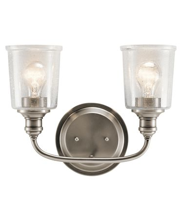 Shown in Classic Pewter finish and Clear Seeded glass