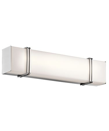 Shown in Chrome finish and Satin Etched Cased Opal glass