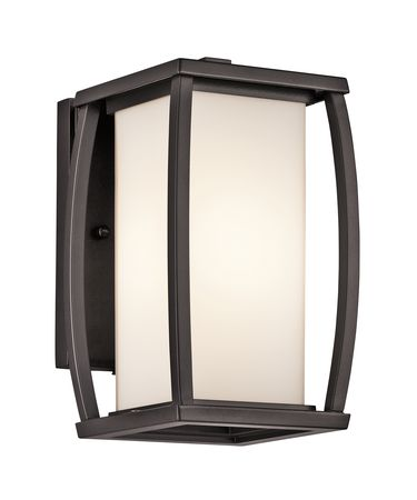 Shown in Architectural Bronze finish and Satin-Etched Cased Opal glass