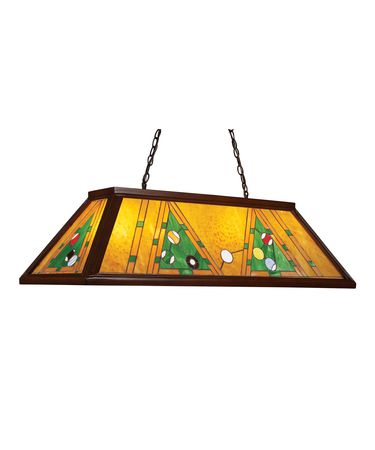 Shown in Dark Mahogany Wood finish and Tiffany Style glass