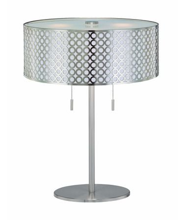 Shown in Polished Steel finish and Metal Cut-Out shade