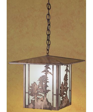Shown in Antique Copper finish and Frosted glass