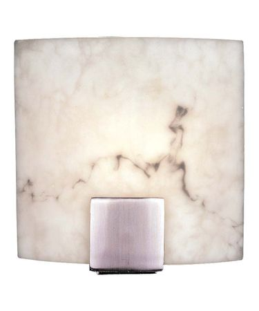 Shown in Brushed Nickel finish and Alabaster Dust glass