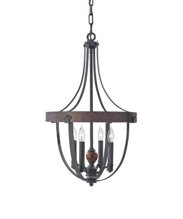 Shown in Antique Forged Iron-Charcoal Brick-Acorn finish