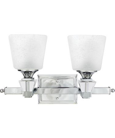 Shown in Polished Chrome finish and Cream Linen glass
