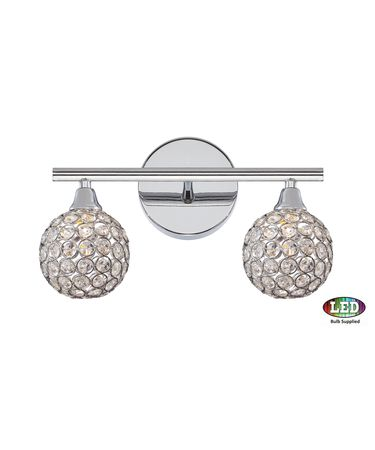 Shown in Polished Chrome finish and Crystall Studded accent