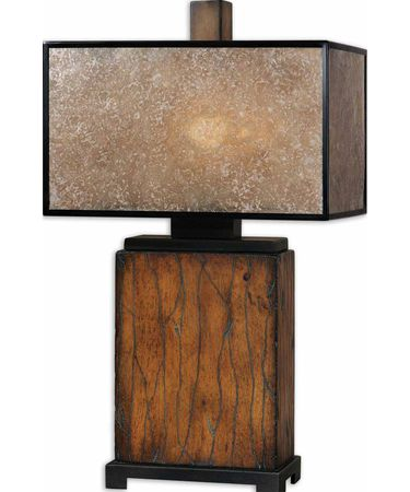 Shown in Bronze finish and Rectangle Box shade