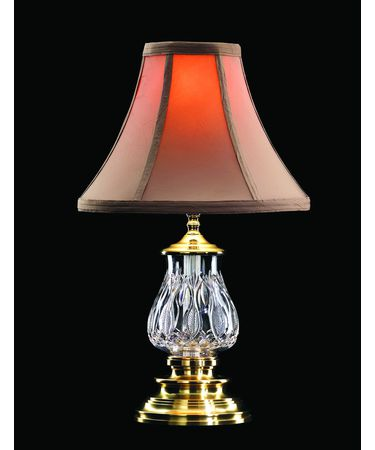 Shown in Versailles Brass finish and Tealeaf Beige Bell Soft Shade shade