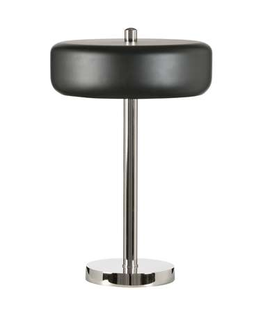 Shown in Polished Nickel With Black finish and Black Nickel shade