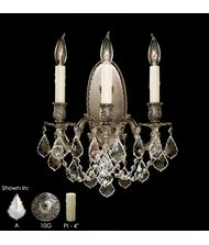American Brass and Crystal WS9303 Elisa 13 Inch Wall Sconce