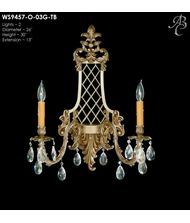 American Brass and Crystal WS9457 9450 Series 13 Inch Wall Sconce