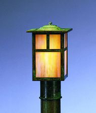 Arroyo Craftsman MP-6 Mission 1 Light Outdoor Post Lamp