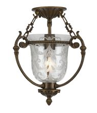 Crystorama 5771 Morgan 11 Inch Semi Flush Mount