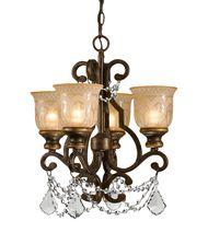 Crystorama 7504 Norwalk  17 Inch Mini Chandelier