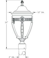 Hanover Lantern B33631A North Hills Small 1 Light Outdoor Post Lamp