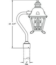 Hanover Lantern B5839 Jefferson Signature Medium 3 Light Outdoor Post Lamp