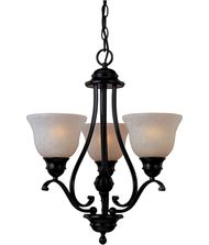 Maxim Lighting 85804 Linda EF Energy Smart 19 Inch Chandelier