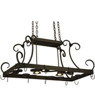 Meyda Lighting 134575 Caiden 43 Inch Lighted Pot Rack