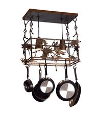 Meyda Lighting 82160 Oak Leaf  Acorn 24 Inch Lighted Pot Rack