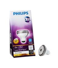 Philips 46677-420369 GU5.3 Base 10 Watt Bright White Reflector LED Bulb