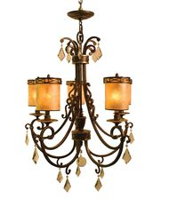 Vanilla Ice Lighting 86CH5BZ Bliss 29 Inch Chandelier